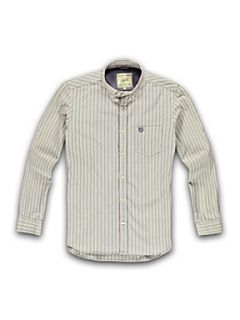 Racing Green Striped long sleeve shirt Aqua