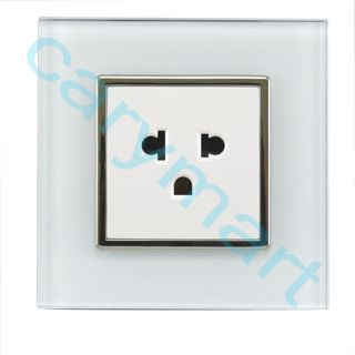 Gang Crystal Glass Panel Touch Wall Light Switch