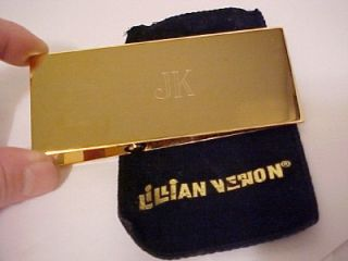 Lillian Vernon JK Monogram Large Desk Brass Paper Clip