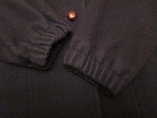 VTG M. Liman Penguin Fashions Womens Union Made Navy Blue Wool Coat