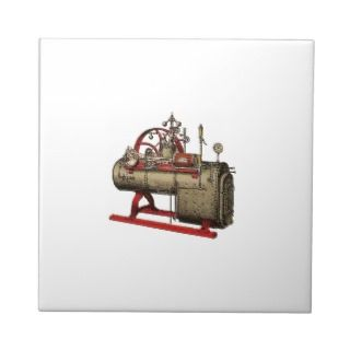 Wood, Taber & Morse, Portable Steam Engine on Skid Ceramic Tiles
