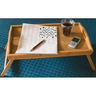 Lipper Bamboo Bed Tray w Folding Legs Brown 8863 New
