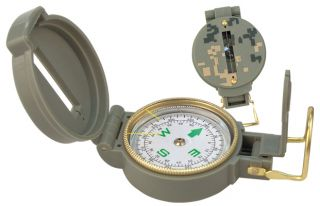 Style Lensatic Compass Liquid Filled Floating Luminous Dial