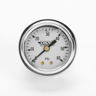 Deluxe Liquid Filled Oil Gauge Kit for Harley