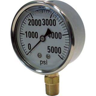 Hydraulic Pressure Gauge Liquid Filled 5000 PSI 2141GXB5000
