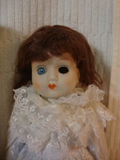 Vtg 17 1 2 Tall Collectible Red Haired Porcelain Doll Wearing L