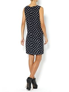 Oui Sleeveless spotty shift dress Blue