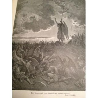 Paradise Lost Antique John Milton Book Gustave Dore Heaven Hell Themed