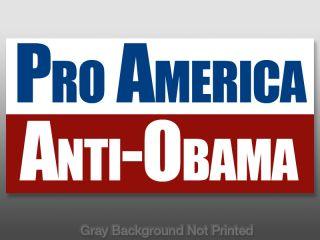 Pro American Anti Obama Sticker No Against Decal USA