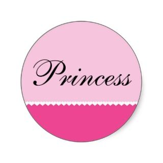 Tiny Hearts on Pink Background, Princess Sticker