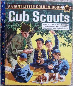 Vintage Cub Scouts A Giant Little Golden Book 1959 1st Edition Golden