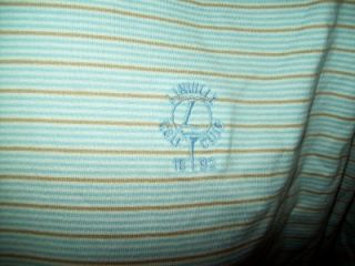 Stripe Cotton Polo Shirt Linville Golf Club Sz x Large XL