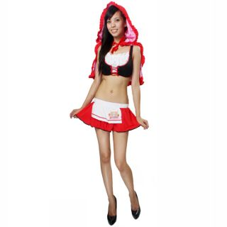Little Red Riding Hood Costume Skirt Hood Cape Girl M L Size
