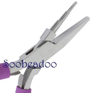 Wire Wrapping 3 Step Round Flat Jaw Pliers