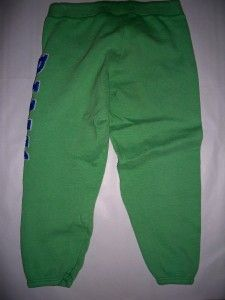 Victorias Secret Pink Capri Green Sweatpants Size Large