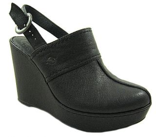 New Born Dot Womens Black Wedge Clog Shoes US Sizes