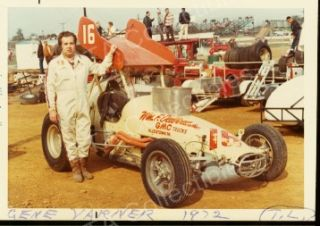 Gene Varner 16 Sprint Car Auto Racing Photo 1972