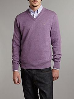 Gant V neck light weight jumper Lavender