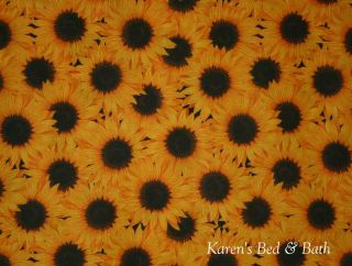 Sunflowers Flowers Sunflower Floral Curtain Valance New