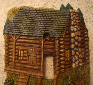 Log Cabin Light Switch Plate Cover Lodge Home Decor New
