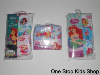 The Little Mermaid Girls 4 6 8 Underwear Panties Briefs Ariel Disney