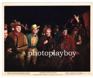 Greer Garson Dana Andrews Strange Lady in Town Color Mini Lobby Movie