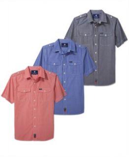 Ecko Unltd Shirt, Plaid Short Sleeve Shirt   Mens Casual Shirts