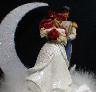 Little Mermaid Prince Disney Wedding Cake Topper Top Knife Server Set