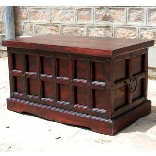 Solid Wood Storage Box Trunk Toy Chest Cherry Coffee Table Wrought