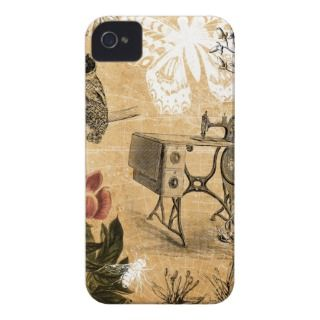 Vintage Sewing Machine Case Mate iPhone 4 Cases