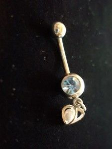 Pearl Belly Button Ring Jewelry Body Piercing Blue