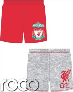 Boys Official Liverpool Football Club Boxer Shorts 2 Pack Underwear