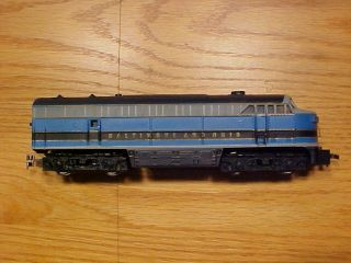 Diesel Locomotive Engine Baltimore Ohio Nine Rolling Stock Cars