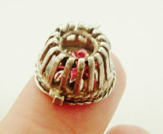 Large Vintage Nuvo Sterling Silver Lobster Pot Charm No Res