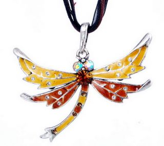 Fashion Dragonfly Long Pendant Charms Necklace Women s Party costome