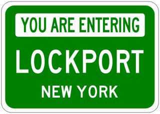 Lockport New York You Are Entering Aluminum City Sign