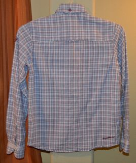 Long Sleeve Blue Purple 100 Cotton Plaid Shirt Youth Boys Large