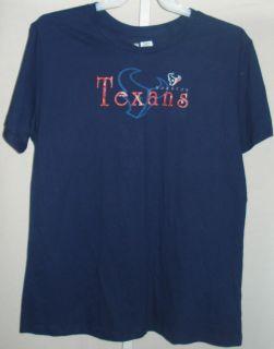 Houston Texans Football Ladies Logo Houston Texans 3XL Navy