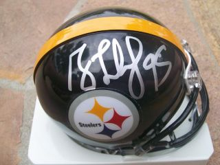 Greg Lloyd Signed Autographed Pittsburgh Steelers Mini Helmet