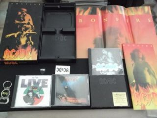 AC DC Bonfire CD Album Box Set 5X CDs Keyring Poster Booklet 1997