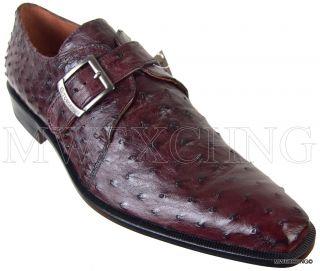 Calzoleria Toscana Ostrich Loafers EU 42 Italian Designer Mens Shoes