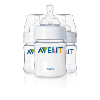 Philips AVENT 4 Ounce BPA Free Bottles (3 Pack) Great For Baby Infants