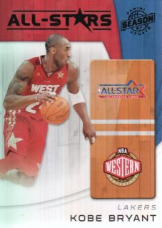 11 Panini Season Update All Stars #24 Kobe Bryant Los Angeles Lakers