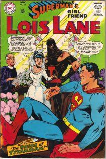 Supermans Girlfriend Lois Lane Comic Book 79 DC Comics 1967 Fine