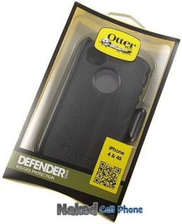 New Otterbox Defender Black Case Belt Clip Holster for Apple iPhone 4S