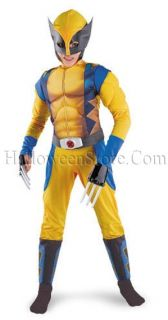 Wolverine Xmen Origins Muscle Chest Child Costume Logan