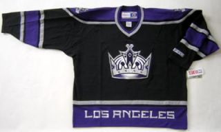 Authentic CCM Los Angeles Kings Black Jersey Sz 2XL