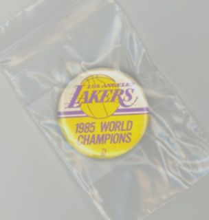 Los Angeles Lakers 1985 World Champions Pin Button