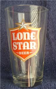Lone Star Beer 16 oz. New Pint (1) GlassTexas Brewer. Red Logo on