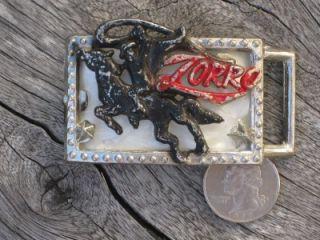 Vintage 30s 40s Zorro Belt Buckle 2 Lone Ranger RARE